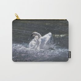 Swan's Lake - Preening Trumpeter Swan Carry-All Pouch