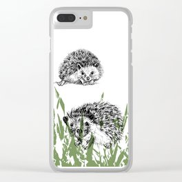 Hedgehogs print Clear iPhone Case
