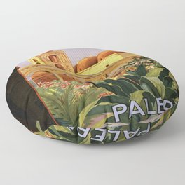 Vintage poster - Palermo Floor Pillow