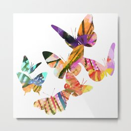 Butterfly Swarm Metal Print