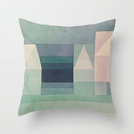 Three Houses Throw Pillow