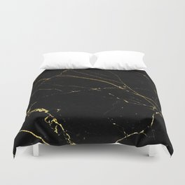 Black and Gold Marble Duvet Cover