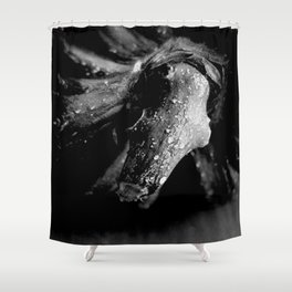 Black Papaya Shower Curtain