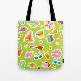 Summer Fun Green Tote Bag