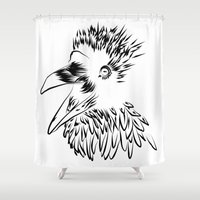 raven Shower Curtains featuring Raven by Jessica Slater Design & Illustration