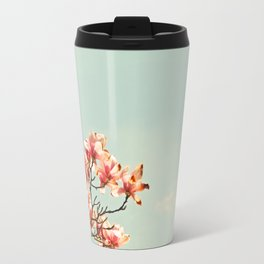 Pink Magnolia Blossoms in Spring Travel Mug