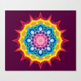 Mandala- Spectrum Lotus Canvas Print