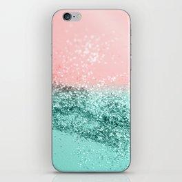 Summer Vibes Glitter #4 #coral #mint #shiny #decor #art #society6 iPhone Skin