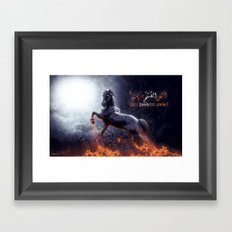 ISN'T DAWN SO SOON! Framed Art Print