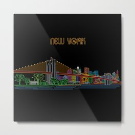 New York Circuit Metal Print