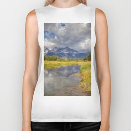 The Grand Tetons Panorama Biker Tank