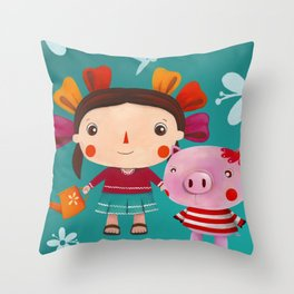 Lolita and friends Throw Pillow