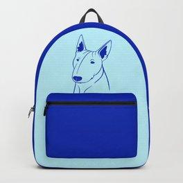 Bull Terrier (Light Blue and Blue) Backpack
