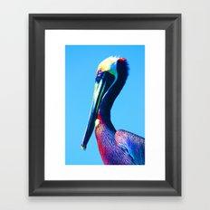 Pop Art Pelican Framed Art Print