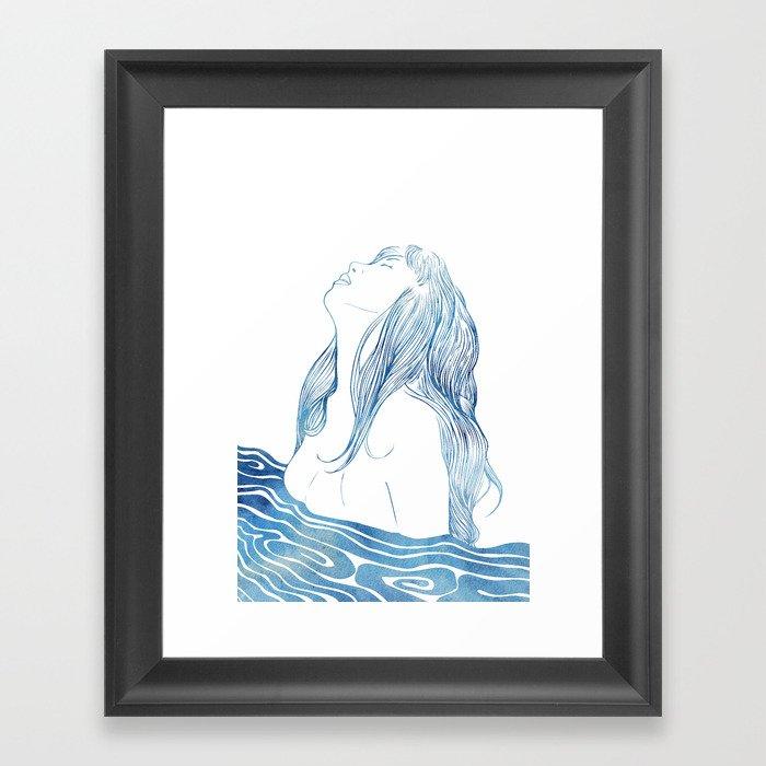 Undine I Framed Art Print