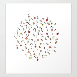 Little Citrus Fruits Art Print