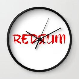 Shining Redrum Wall Clock