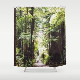 Redwood path Shower Curtain
