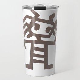 Rasta man Cave carving illustration Travel Mug