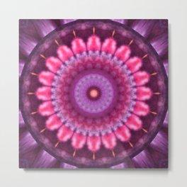 Mandala pink lady Metal Print