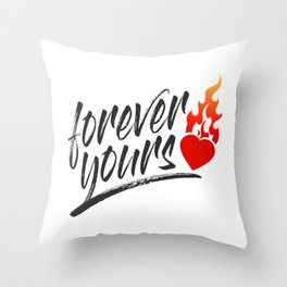 Simple Forever Your Valentine's Day Calligraphy Throw Pillow