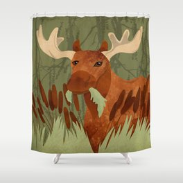 Moose Munch Shower Curtain