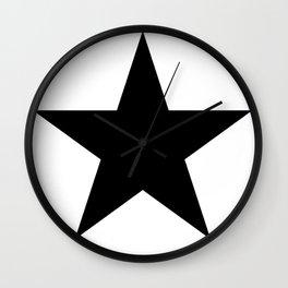 Black star t shirts cotton jersey clothing Wall Clock