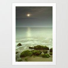 Mistery beach. Art Print