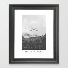 Feels Rewarding Framed Art Print