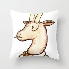 Sir Antelope Throw Pillow