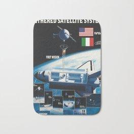 classic poster nasa asi thethered satellite system Bath Mat