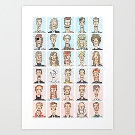 Ch-ch-ch-ch-ch-ch-changes of Bowie Art Print