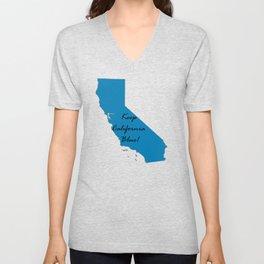 Keep California Blue! Proud Vote Democrat Midterms 2018 Unisex V-Neck