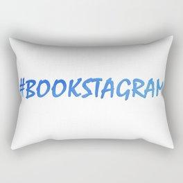 #BOOKSTAGRAM in blue Rectangular Pillow