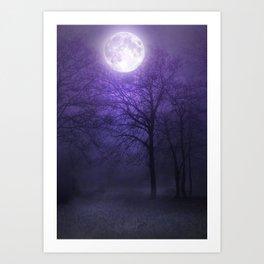 lonely moon Art Print