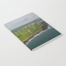 Aerial view of Carnsore Wind Farm Notebook