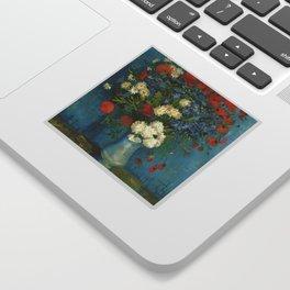 Vincent Van Gogh Vase With Cornflowers And Poppies Sticker