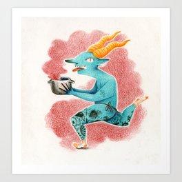 Running Satanello Art Print