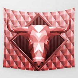 Bull Head Trophy 2 Wall Tapestry
