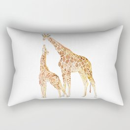Mother and Baby Giraffes Rectangular Pillow