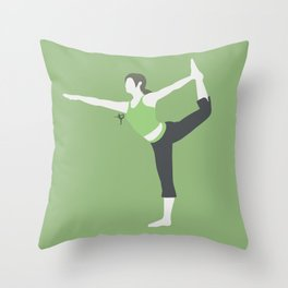 Wii Fit Trainer♀(Smash)Green Throw Pillow
