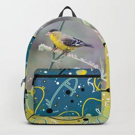 Little Yellow Birds (Lesser Goldfinches) Backpack