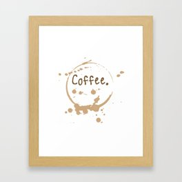 coffee cup splatter Framed Art Print