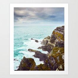 Kerry Cliffs, Ireland Art Print