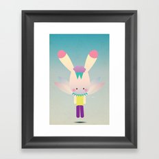 Miss Bunn Framed Art Print