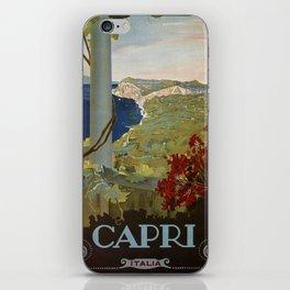 Isle of Capri Italian travel ad iPhone Skin