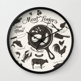 Meat Lovers Wall Clock