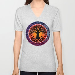 Viking Yggdrasil World Tree Unisex V-Neck