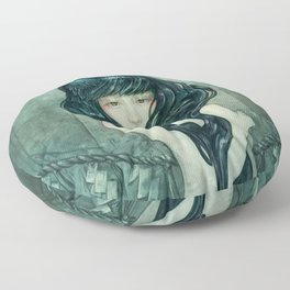Oracle of the sodden raven Floor Pillow