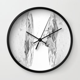 water splash in glasses Wall Clock